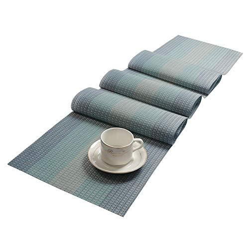 Umweltschutz PVC-Tischset Teslin-Steigung gesponnene rutschfeste Isolierungsmatte der Tabellenmarkierungsfahne Haushaltshotelwestrestaurantmatte