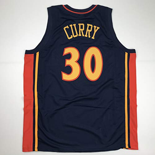 Unsigned Steph Stephen Curry Golden State Retro Dark Blue Custom Stitched Basketball Jersey Size Men's XL New No Brands/Logos
