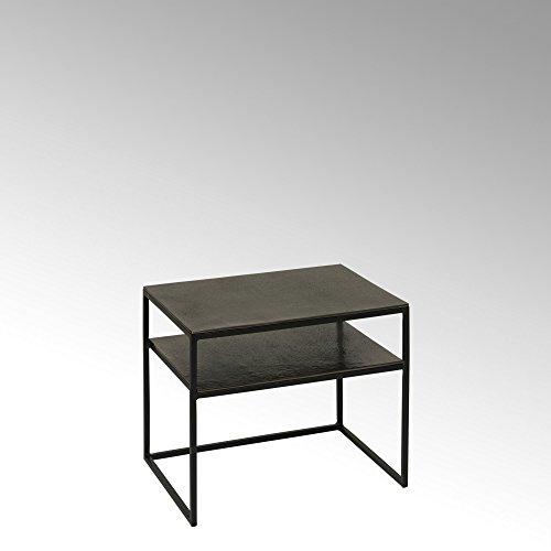 Lambert Miyu Nachttisch/Beistelltisch Alu Finish, Metall, Graphit, schwarz, One Size
