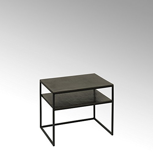Lambert Miyu nachtkastje/bijzettafel aluminium grafiet afwerking, metaal, zwart, één maat
