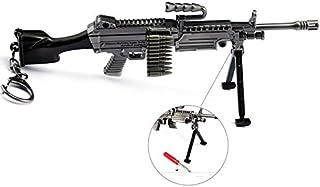 "CHGOO M249 Games Eat Chicken 6.2"" Mini Metal Gun Rifle Model Figure Arts Toys Collection Keychains Gift"