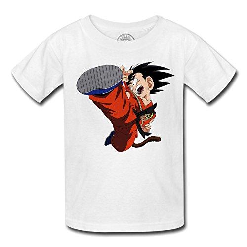 Fabulous T-Shirt Enfant DBZ Goku Kick Fight Sangoku Manga Dragon Ball Anime
