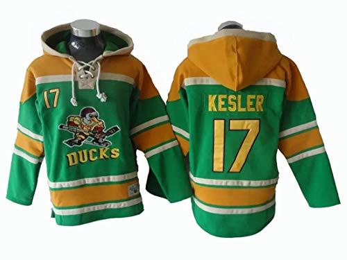Gmjay NHL Anaheim Ducks Ryan Kesler # 17green Kapuzenpulli Trikot Genähte Buchstaben Zahlen NHL Long Sleeve T-Shirt,M