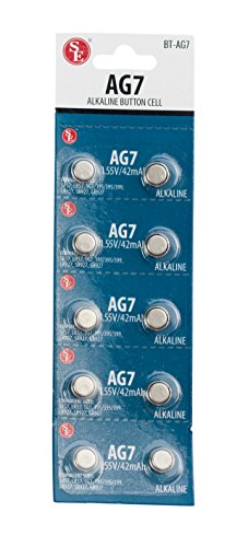 SE AG7 Alkaline Button Cell Batteries (10 PC.) - BT-AG7