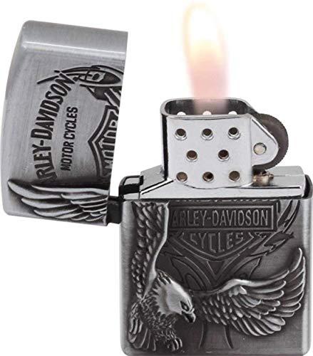 LAVI Antique Eagle Print Windproof Cigarette Pocket Lighter (Silver)