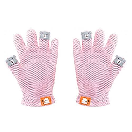 ペットブラシ 1ペア 抜け毛取り クリーナー グローブ 猫 ブラシ 手袋 ブラッシング マッサージブラシ 犬 グローブ お手入れ ネコ ペット用品 ピンク