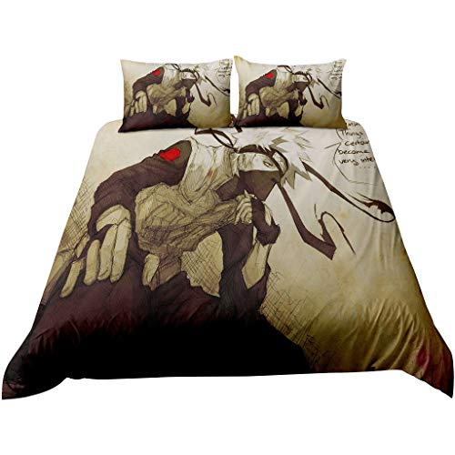 SAFTYBAY 1 Duvet Cover + 2 Pillow Case - 3D Naruto Duvet Cover Bedding Set Twin Full Queen King Size...