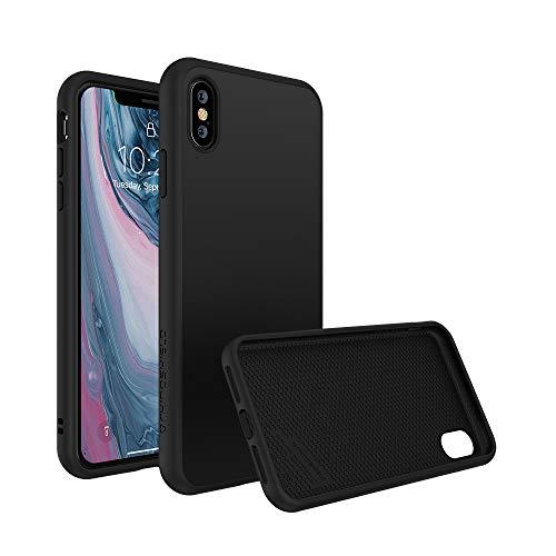 RhinoShield Coque Compatible avec [iPhone X] | SolidSuit - Housse Fine avec Technologie Absorption des Chocs & Finition Premium - Noir Classic