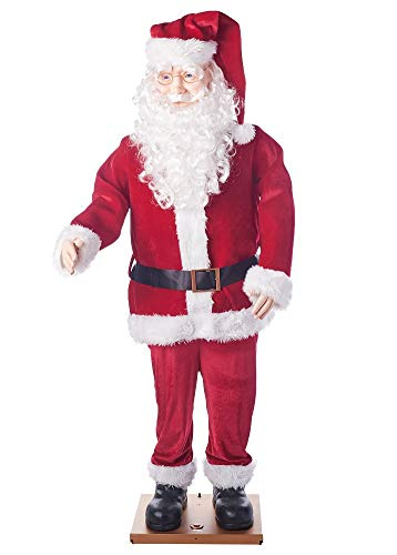 Holiday Time Dancing Santa, Motion Activated Animated 5.8 Ft Tall Decoration