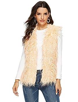 orange fur vest