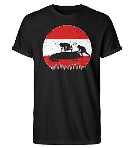 Bobsport 680 - Camiseta para hombre con diseño de la Copa Mundial de Austria Negro M