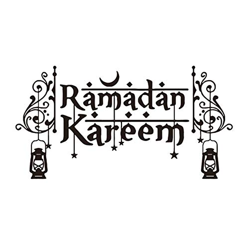 Supersticki Ramadan Kareem met lantaarns oosterse halve maan 20 cm stickers, autostickers, stickers, decal, muurtattoo, van high-performance folie, uv- en wasstraatbestendig,