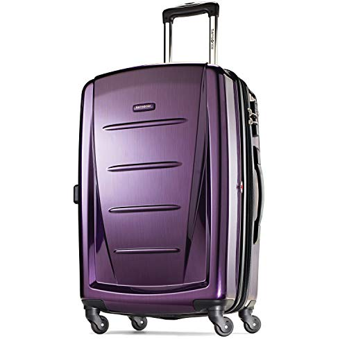 Samsonite Winfield 2 Hardside Expandable Luggage with Spinner Wheels, Purple, Carry-On 20-Inch