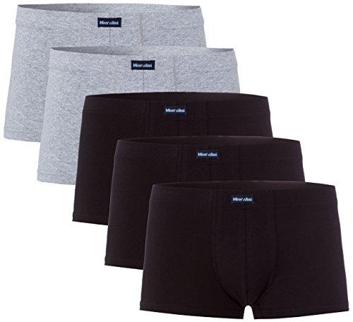 MioRalini 10 oder 5 weiche farbige Herren Retro Pants Boxershort elastische mit Elastan und Baumwoll weiche Unterhose Short Boxer Pant Hipster, Größen: S M L XL 2XL 3XL 4XL, 5 Stück Sport 02a, L-6