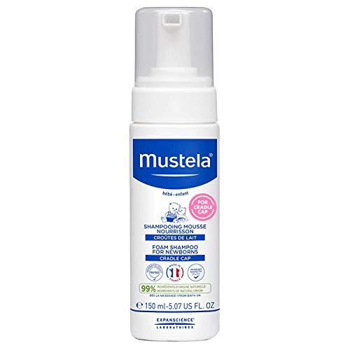Mustela Foam Shampoo for Newborns, Baby Shampoo, Cradle Cap, Tear Free, 5.07 Fl Oz