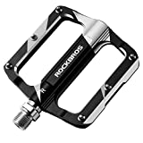 ROCKBROS Mountain Bike Pedals Flat Bicycle MTB Pedals 9/16 Lightweight Road Bike Pedals Carbon Fiber...