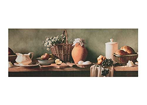 BiancheriaWeb Tappeto Cucina Antiscivolo Stampa Digitale Emozioni Fantasie Floreali Vintage 58x280 Colazione