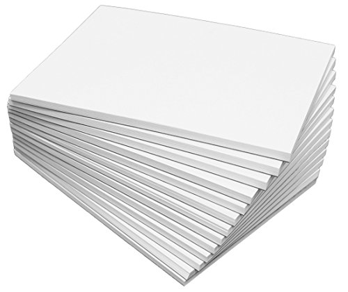 "DEBRADALE DESIGNS Blank Unruled Memo Pads - 5"" x 7"" Inches - Baker's Dozen (13) - Note Pads with 50 Sheets each of Bright White 20# Bond Paper - Quality Chipboard Backer"