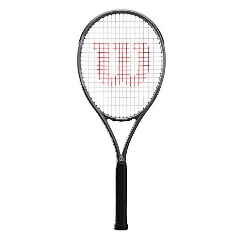 Wilson Pro Staff Precision Team 100, Wr019210U2 Racchetta da Tennis, Tennisti Amatoriali di Livello Avanzato, Fibra di Vetro e Alluminio, Antracite, Manico 2