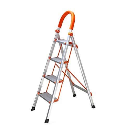 YUTI KJZ Multi-Funcional Baranda Escalera, Unilateral portátil escaleras de Tijera 3 Paso / 4 Paso aleación de Aluminio de escaleras de Tijera/Altura: 116 cm, 136 cm Taburete de Flor de la Planta