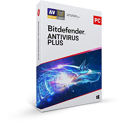 Bitdefender Antivirus Plus 2021 - 3 Devices | 1 year Subscription | PC Activation Code by Mail