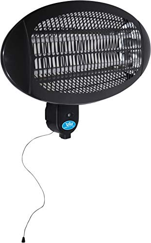 Prem-I-Air 2 kW Outdoor Garden Heating Wall Mounted Patio Heater in Black