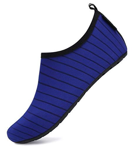 SAGUARO Escarpines Hombre Zapatillas Agua Mujer Antideslizante Secado Rápido Zapatos de Surf Escarpines Vela 033 Azul Gr.40/41
