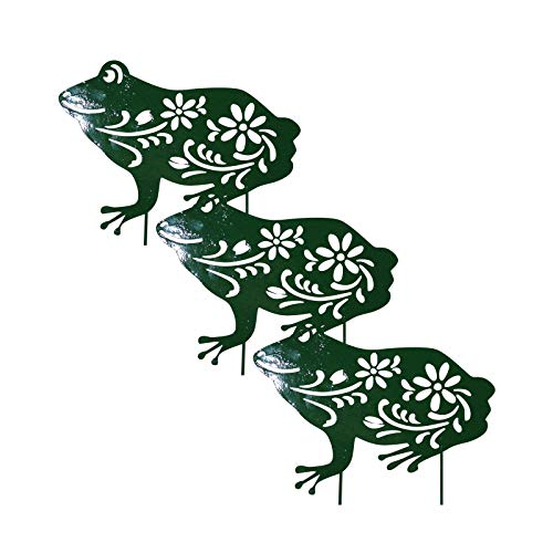Frog Garden Decoration Stake, Novelty Summer Frog Hollow out Statues Ornament, Standing Acrylic Animal Shape Decor, Animal Silhouette Art for Gardens Patio Yard Lawn Porch Backyard Pathway