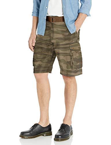 LEE Men's Dungarees New Belted Wyoming Cargo Short, Fatigue camo, 42