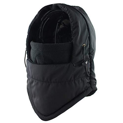 BAONUAA Chapeau Chaud,Durable Unique Noir Hommes Femmes Hiver Polaire Thermique Masque De Ski Sports D'Extérieur Étanche Windstopper Chasse Hat