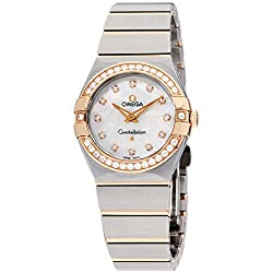 Diamond Mother of Pearl Dial Rose Gold and Steel Watch