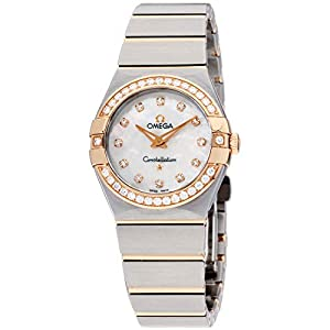 Omega Constellation Diamond Mother of Pearl Dial Rose Gold and Steel Ladies Watch 12325276055001 image