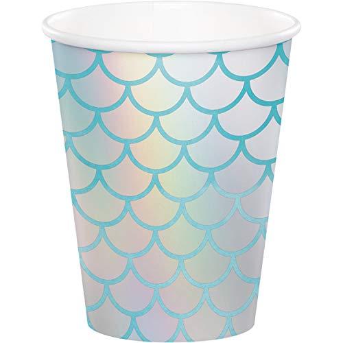 Creative Party PC340544 - Bicchieri di carta pastello, a tema sirena, 8 pezzi