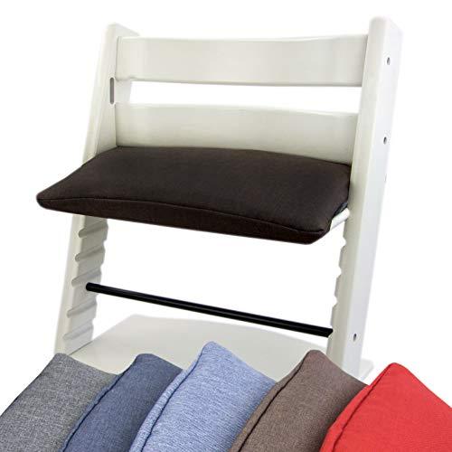 BAMBINIWELT Vervangende overtrek, kussen voor hoge stoel/kinderstoel Stokke Tripp Trap, zitverkleiner 1-delig donkerbruin