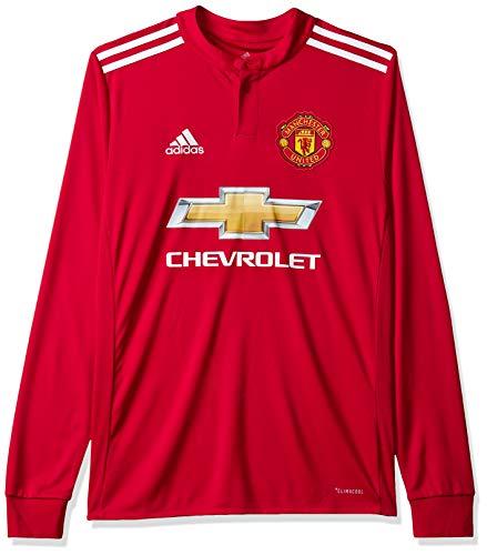 adidas MUFC H JSY Yl Camiseta 1ª Equipación Manchester United 2017-2018, Niños
