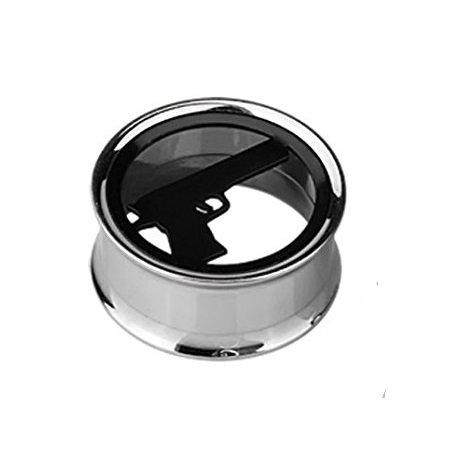 14 mm di James Bond 007-Vaso color carne-Tunnel-Plug-Tela