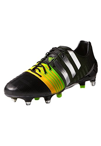 adidas Nitrocharge 1.0 SG Mens Football Boots Soccer Cleats (UK 6.5 US 7 EU 40, Black Silver Gold M17738)