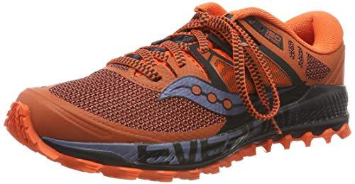 Saucony Peregrine ISO, Zapatillas de Running Hombre, Naranja (Orange/Black 36), 41 EU