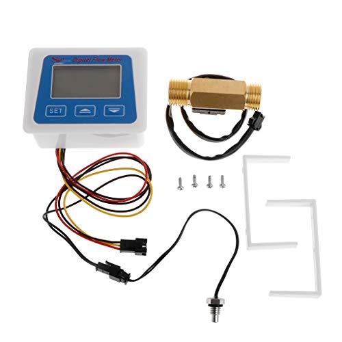 Duyummy Digitaler Durchflussmesser Temperaturmesser Für Den Wasserdurchflussmesser Mit G1 / 2-Durchflusssensor