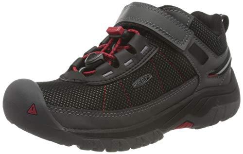 KEEN Unisex Kinder Targhee Sport Sneaker, Schwarz (Steel Grey/Red Carpet), 25/26 EU