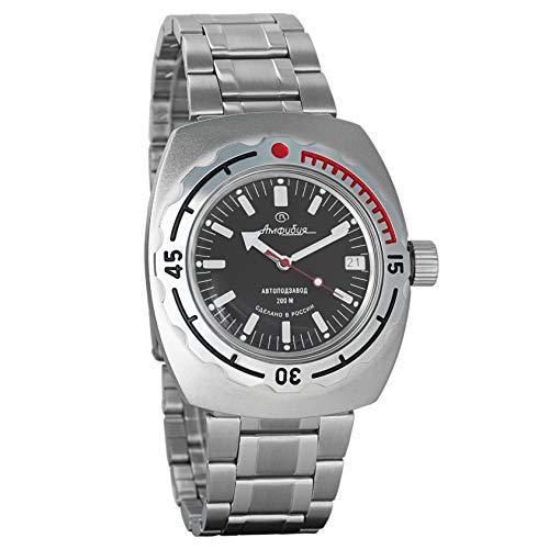 Vostok Amphibian 090662 orologio da polso originale russo militare subacqueo 2416B/2415 200 m auto carica orologio da polso