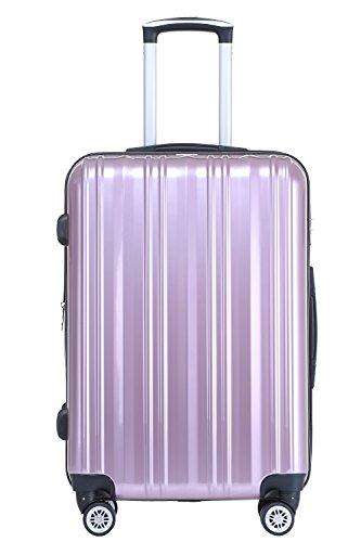 Münicase Münicase TSA-Schloß Koffer Reisekoffer Trolley Kofferset (Rosa, Kleiner Koffer (ca.54cm))