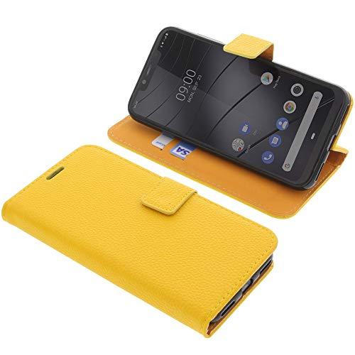 foto-kontor Tasche für Gigaset GS195 Book Style gelb Schutz Hülle Buch