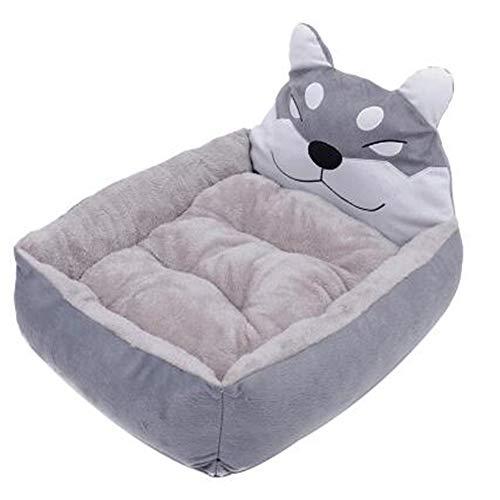 XYBB Huisdierbed voor hondenkatoen verkrijgbaar Cartoon Husky Pet House voor katten met dubbelzijdig afneembaar kussen, 30*40cm, zoals afgebeeld