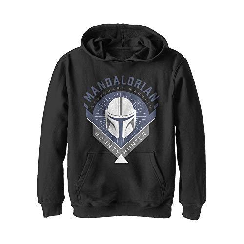 Star Wars Boys' Hooded Sweatshirt, Black, Large