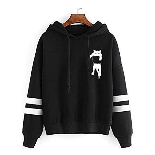 Dicomi Damen Sweatshirt Plus Size Winter Warm Composite Plüsch Knopf Revers Jacke Outwear Mantel Tops