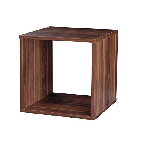 Top Marques Collectibles Bücherregal Taylor & Brown® aus Holz mit 1, 2, 3, 4 Ablagen Modern Cube braun (teak)
