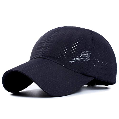 Memoryee Al Aire Libre Gorra de béisbol Estampada Personalizado Ajustable Adecuado para Hombres y Mujeres Sombrero de Secado rápido/Azul Marino/One Size