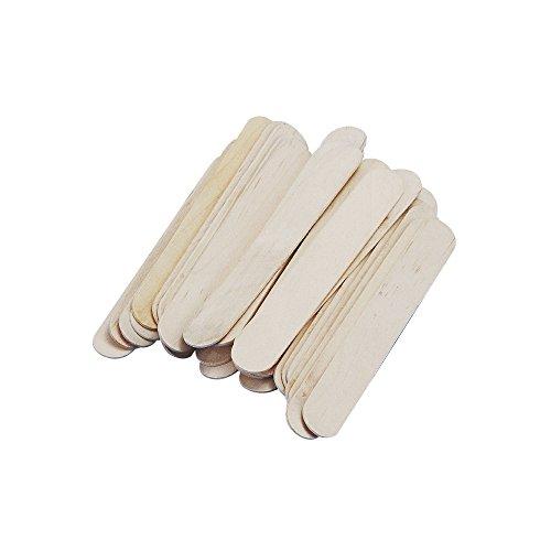 Rayher 6121631 Bastelhölzer, 150 mm x 20 mm, 36 Stück, natur, Holzspatel zum Basteln, Holzstiele