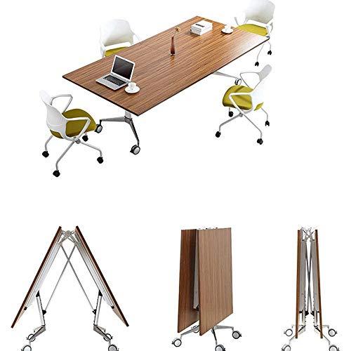 Computer Bureau, Multi-functioneel Inklapbare Conference Table, lastafel Office Training Table Personeelsvergadering Table Planken Roller Folding Lijst van de conferentie